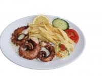 Octopus grilled