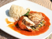 Chicken fillet (With vegetable risotto)