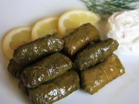 Stuffed vine leaves with rice
